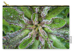 Carry-all Pouch featuring the photograph Macro Of A Weed by Jean Haynes