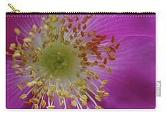 Macro Rosehip Bloom Carry-all Pouch