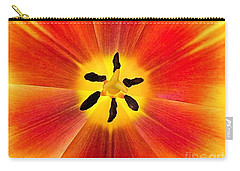 Macro Tulip Carry-all Pouch by Elizabeth Dow
