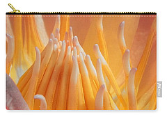 Carry-all Pouch featuring the photograph Macro Water Lily by Chad and Stacey Hall