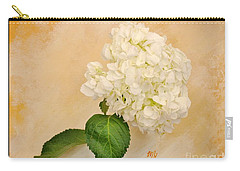 Macro White Hydrangea Carry-all Pouch