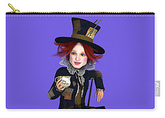 Mad Hatter Portrait Carry-all Pouch by Methune Hively