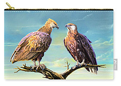 Madagascar Fish Eagle  Carry-all Pouch by Anthony Mwangi