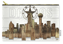 Made-to-order Dallas Texas Skyline Wall Art Carry-all Pouch