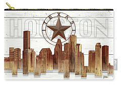 Made-to-order Houston Texas Skyline Wall Art Carry-all Pouch