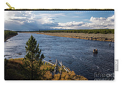 Madison River In Yellowstone National Park Carry-all Pouch by Cindy Murphy - NightVisions