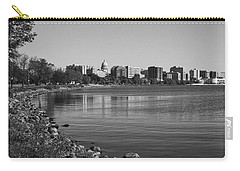 Madison Skyline From John Nolan Drive - Black And White Carry-all Pouch