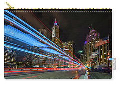 Carry-all Pouch featuring the photograph Mag Mile Warp Speed by Sean Foster