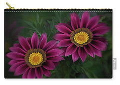 Carry-all Pouch featuring the photograph Magenta African Daisies by David and Carol Kelly