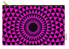 Carry-all Pouch featuring the digital art Magenta Balance by Lucia Sirna