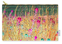 Magenta Bluebonnets Carry-all Pouch by Ellen O'Reilly