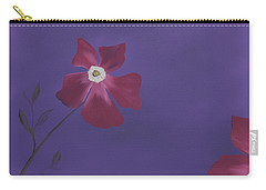 Magenta Flower On Plum Background Carry-all Pouch
