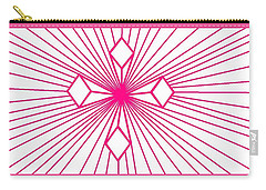 'magenta Lines 1' Carry-all Pouch
