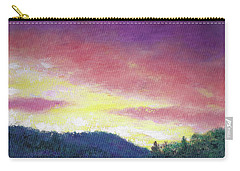 Magenta Sunset Oil Landscape Carry-all Pouch