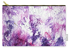 Magenta Violet Abstract Carry-all Pouch by Joan Hartenstein