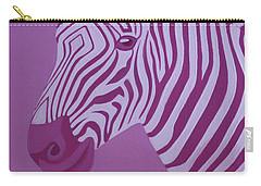 Magenta Zebra Carry-all Pouch