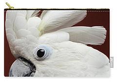 Maggie The Umbrella Cockatoo Carry-all Pouch by Bob Slitzan
