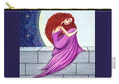 Carry-all Pouch featuring the drawing Maggie's Lullaby by Danielle R T Haney