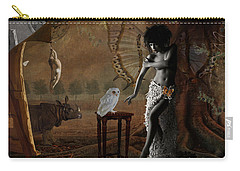 Carry-all Pouch featuring the digital art Maggie's World by Nola Lee Kelsey