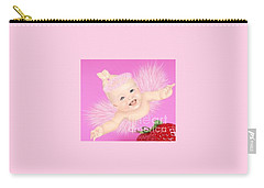 Magic Baby Face-pink Angle Carry-all Pouch