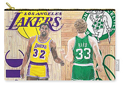 Magic Johnson And Larry Bird Carry-all Pouch by Chris Brown
