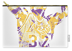 Magic Johnson Los Angeles Lakers Pixel Art 7 Carry-all Pouch