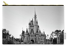 Magic Kingdom Castle In Black And White Mp Carry-all Pouch