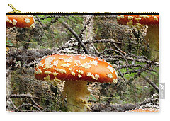 Magic Mushrooms Carry-all Pouch by Natalie Ortiz