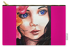 Carry-all Pouch featuring the painting Magic Secrets by Michal Madison