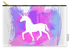 Magic Unicorn 1- Art By Linda Woods Carry-all Pouch