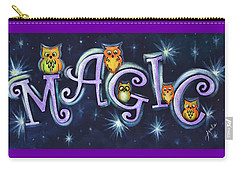 Magic With Owls Carry-all Pouch by Agata Lindquist