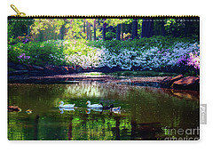 Magical Beauty At The Azalea Pond Carry-all Pouch by Tamyra Ayles