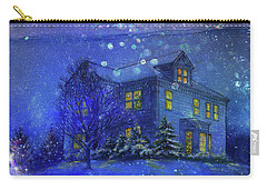 Magical Blue Nocturne Home Sweet Home Carry-all Pouch