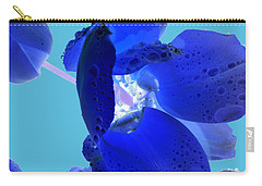 Magical Flower I - Blue Velvet Carry-all Pouch