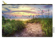 Carry-all Pouch featuring the photograph Magical Light In The Dunes by Debra and Dave Vanderlaan