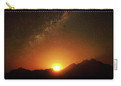 Magical Milkyway Above The African Mountains Carry-all Pouch