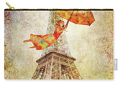 Carry-all Pouch featuring the digital art Magically Paris by Christina Lihani