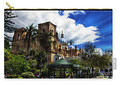 Carry-all Pouch featuring the photograph Magnificent Center Of Cuenca, Ecuador IIi by Al Bourassa