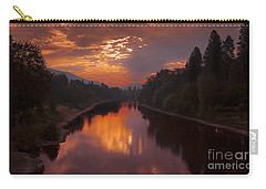 Magnificent Clouds Over Rogue River Oregon At Sunset  Carry-all Pouch