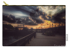 Magnificent Sunset - On The Boardwalk Carry-all Pouch by Miriam Danar