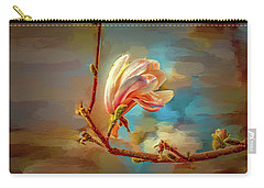 Carry-all Pouch featuring the digital art Magnolia Abs #h4 by Leif Sohlman
