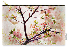 Carry-all Pouch featuring the photograph Asian Cherry Blossoms by Jessica Jenney