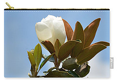 Carry-all Pouch featuring the photograph Magnolia Topper by Maria Urso