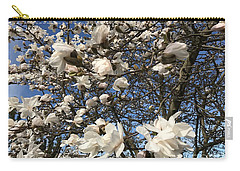 Carry-all Pouch featuring the photograph Magnolia Tree In Blossom by Patricia Hofmeester