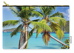Carry-all Pouch featuring the photograph Maho Bay Palms by Adam Romanowicz