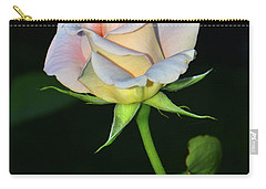 Carry-all Pouch featuring the photograph Maid Of Honour Rose 001 by George Bostian