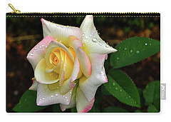 Carry-all Pouch featuring the photograph Maid Of Honour Rose 003 by George Bostian
