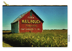 Carry-all Pouch featuring the painting Mail Pouch Barn P D P by David Dehner