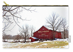 Carry-all Pouch featuring the photograph Mail Pouch Tobacco Barn by Trina Ansel