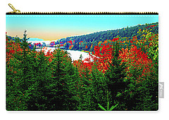Carry-all Pouch featuring the photograph Maine Long Pond Acadia  by Tom Jelen